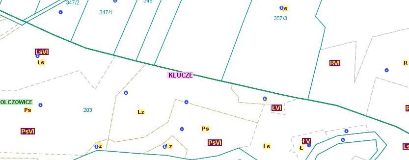 Przebieg granicy pomiędzy obszarami wsi Cieślin i Golczowice (CG/2)