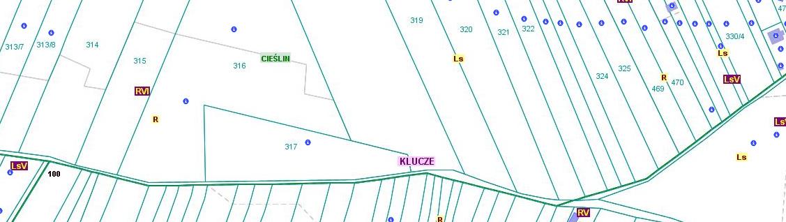 Przebieg granicy pomiędzy obszarami wsi Cieślin i Kolbark (CKo/3)