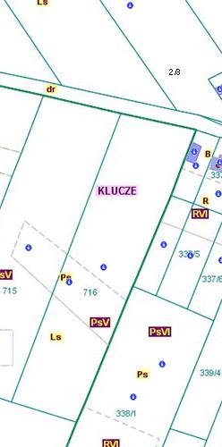 Przebieg granicy pomiędzy obszarami wsi Cieślin i Kwaśniów Dolny (CKd/2).