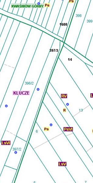 Przebieg granicy pomiędzy obszarami wsi Cieślin i Kwaśniów Dolny (CKd/5).