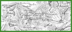 """""""Mapa Galicji Zachodniej"""" (Karte von West Gallizien) (1801-1804)."""