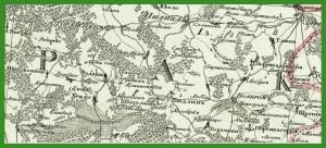 """""""Semitopografičeskaja karta Carstva Pol'skago"""" (1811-1820)."""