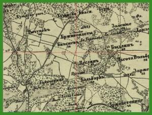 """""""Voenno-topograficeskaja karta Rosii"""" (1855-1875)."""