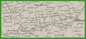 """""""Karta dawnéj Polski z przyległemi okolicami krajów sąsiednich według nowszych materyałów na 1:300000"""" (1859)."""