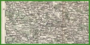 """""""General-Karte von Central-Europa 1:300 000"""" (1881)."""