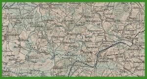 """""""Mapa Generalna Europy Środkowej (Lazarus), 1889 -""""."""