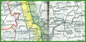 """""""Ravensteins Bürokarte No 41 Provinz Oberschlesien und Regierungs-Bezirk Troppau"""" (1902)."""