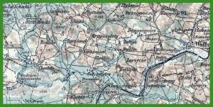 """""""Generalkarte von Mitteleuropa 1:200 000"""" (1914)."""