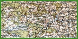 """""""Übersichtskarte von Mitteleuropa 1:300 000"""" (1914)."""
