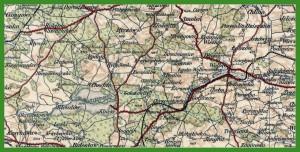 """""""Übersichtskarte von Mitteleuropa 1:300 000"""" (1923)."""