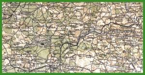 """""""WIG - Mapa Operacyjna Polski 1:300 000"""" (1925)."""