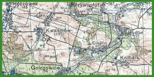 """""""WIG - Mapa Taktyczna Polski 1:100 000"""" (1933)."""