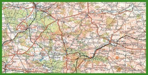 """""""WIG - Mapa Operacyjna Polski 1:300 000"""" (1935)."""