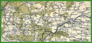 """""""WIG - Mapa Operacyjna Polski 1:300 000"""" (1936)."""