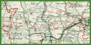 """""""WIG/GUS - Mapa Administracyjna Rzeczypospolitej Polskiej 1:300 000"""" (1937)."""