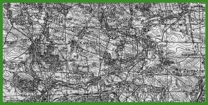 """""""Karte des Deutschen Reiches 1:100 000 - Großblatt/Einheitsblatt"""" (1938)."""
