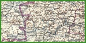 """""""Übersichtskarte von Mitteleuropa 1:300 000 - arkusze łączone zestaw 1"""" (1938)."""