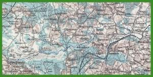 """""""Generalkarte von Mitteleuropa 1:200 000"""" (1939)."""
