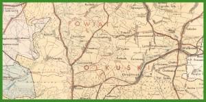 """""""Mapa Zagłębia Dąbrowskiego. Podziałka 1: 100 000"""" (1939)."""