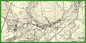 """""""WIG - Mapa Szczegółowa Polski 1:25 000"""" (1941)."""
