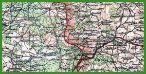 """""""Übersichtskarte von Mitteleuropa 1:300 000 - arkusze łączone zestaw 2"""" (1941)."""