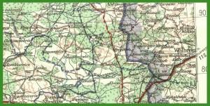 """""""Übersichtskarte von Mitteleuropa 1:300 000 - prowincje, III Rzesza"""" (1942)."""