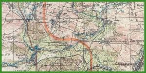 """""""Karte des Deutschen Reiches 1:100 000 - Großblatt/Einheitsblatt"""" (1944)."""