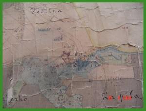 """""""Mapa folwarku Cieślin z roku 1879""""."""