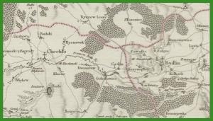 """""""Mappa szczegulna Woiewodztwa Krakowskiego i Xięstwa Siewierskiego ... """" (1787)."""