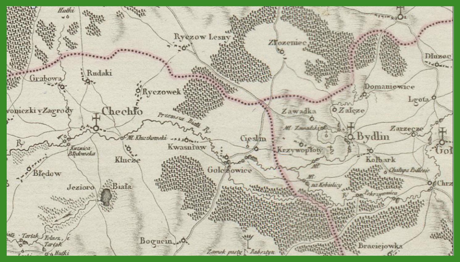 Mappa szczegulna Woiewodztwa Krakowskiego i Xięstwa Siewierskiego (fragment). Edit