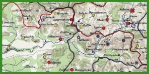"""""""Mapa Województwa Krakowskiego w dobie Sejmu Czteroletniego 1788 – 1792″."""