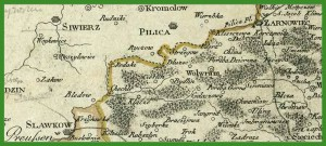 """""""West Galizien. Bl. 1, enthaltend den Kraukauer, Slomniker, Stopnicer, Sandecer, Bochnier und Myslenicer Kreis"""" (1803)."""