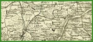 """""""Theile des Königreichs Galizien u. der Herzogthümer Warschau u. Schlesien"""" (1807)."""