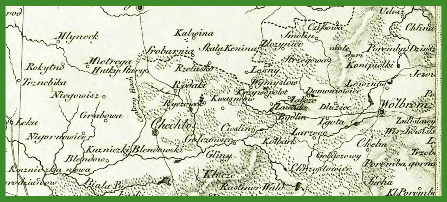 """""""General-Carte von Westgalizien"""" (1809)."""