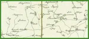 """""""Mapa województw krakowskiego i sandomierskiego oraz Wolnego Miasta Krakowa"""" (1823)."""