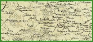 """""""Mappa Królestwa Polskiego wraz z częścią pogranicznych państw"""" (1862)."""