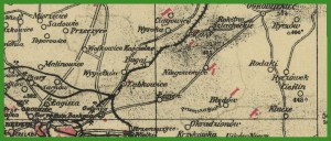 """""""Popularna mapa województwa śląskiego"""" (1938)."""