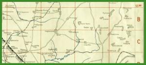 """""""Übersichts-Karte vom Industriegebiet Ost-Schlesien : Maßstab 1:200 000"""" (1940)."""