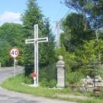 Cieślin - Krzyż przy skrzyżowaniu ulicy Jurajskiej z ulicą