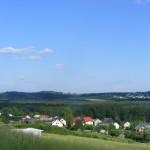 Cieślin - Panorama wsi (w oddali Kolbark)