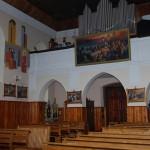 Widok na chór kościelny