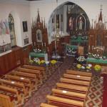 Widok na kościół z chóru