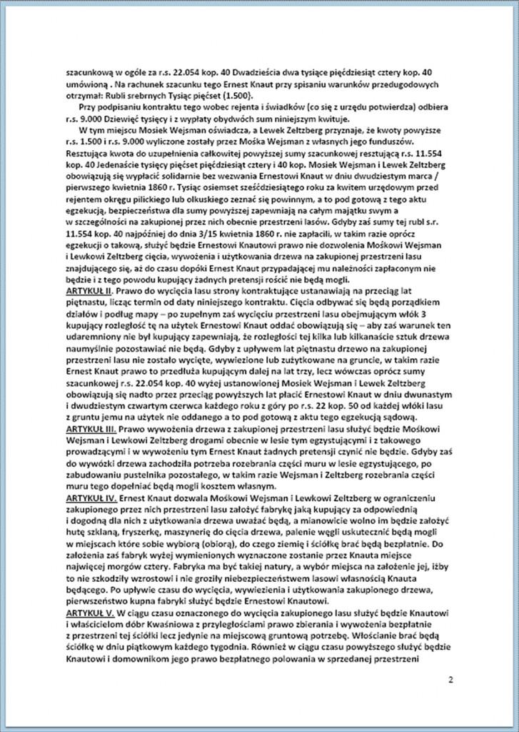 Kontrakt kupna i sprzedaży lasów - 11/23.08.1859 r. (2).