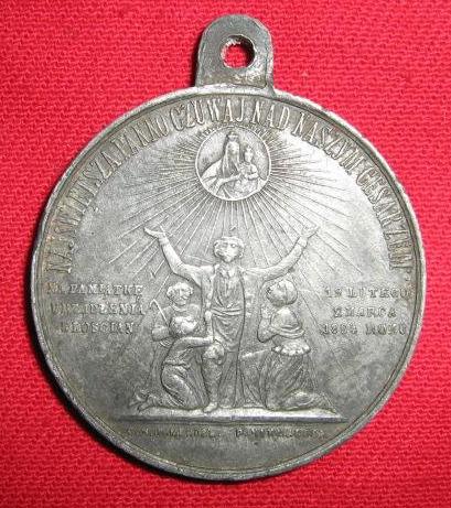 Medal pamiątkowy wybity przez cara Aleksandra II na pamiątkę częściowego uwłaszczenia chłopów 19 lutego / 2 marca 1864 r.