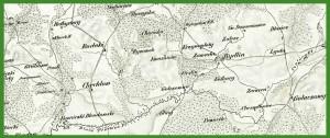 """""""Reymann's Topographische Special-Karte von Central Europa"""" (1845)."""