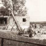 Budowa Domu Ludowego - zalewanie stropu betonem - 1968 r. (2).
