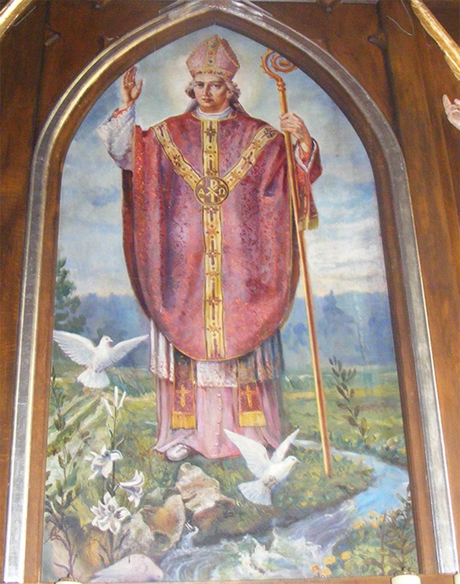 Odpust 2015 - Obraz św. Stanisława w ołtarzu głównym kościoła w Cieślinie