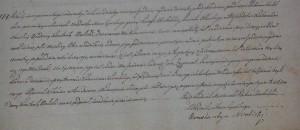 Akt stanu cywilnego urodzenia Tadeusza Jana Zygmunta Wolickiego 15.12.1817 r.
