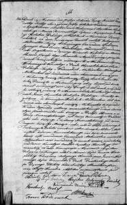 Akt małżeństwa zawartego pomiędzy Edmundem Feliksem Ignacym Wodzińskim a Joanną Konstancją Łucją Wolicką 05.11.1836 r. (Akt stanu cywilnego Parafii Rzymskokatolickiej pw. św. Andrzeja w Warszawie).
