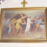 "ks. M. Dubiel - ""Droga Krzyżowa (Stacja V)"" [Cieślin - kościół]"